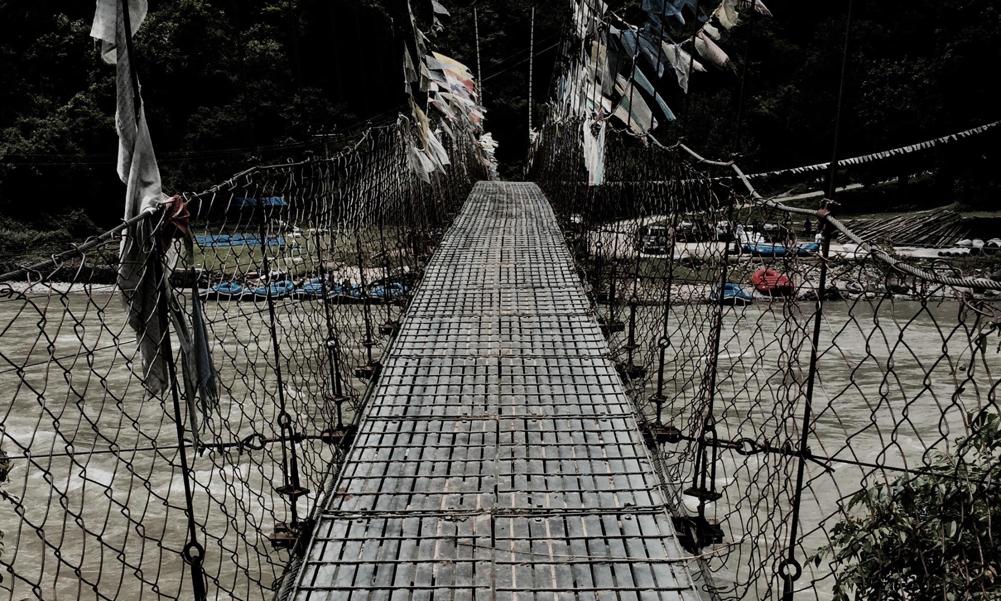 hängebrücke in bhutan