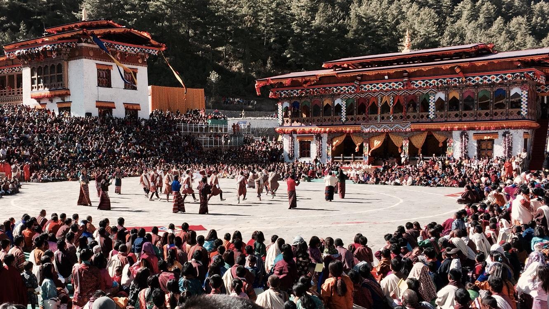 feier des nationaltags in bhutan