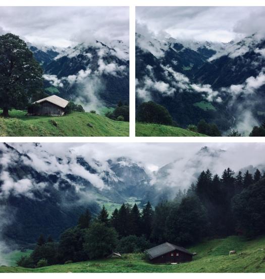 via alpina braunwald mit blick auf linthal richetlipass